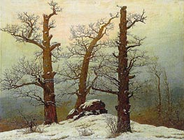 Dolmen in the Snow, 1807 by Caspar David Friedrich | Painting Reproduction