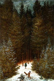 The Chasseur in the Woods | Caspar David Friedrich | Gemälde Reproduktion