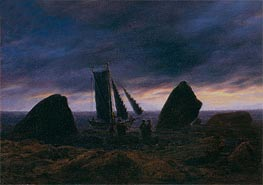 Fishing Boat by the Baltic Sea | Caspar David Friedrich | Painting Reproduction