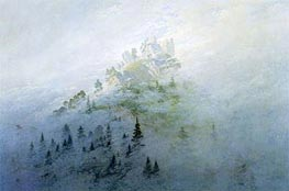 Morning Fog in the Mountains | Caspar David Friedrich | Painting Reproduction