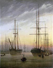View of a Harbor, c.1815/16 by Caspar David Friedrich   Painting Reproduction
