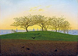 Hills and Ploughed Fields near Dresden, undated by Caspar David Friedrich   Painting Reproduction