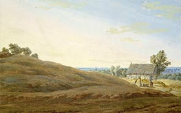 Hut with a Well on the Rugen, undated by Caspar David Friedrich   Painting Reproduction