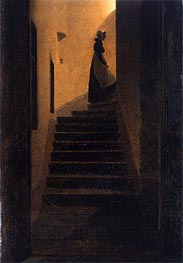 Caroline on the Stairs, 1825 by Caspar David Friedrich | Painting Reproduction