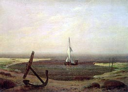 Evening, undated by Caspar David Friedrich | Painting Reproduction