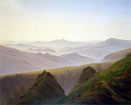 Morning in the Mountains, c.1823 by Caspar David Friedrich | Painting Reproduction