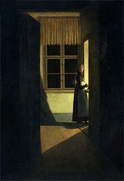 The Woman with the Candlestick, 1825 by Caspar David Friedrich | Painting Reproduction