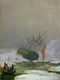 Ship in the Polar Sea, 1798 by Caspar David Friedrich | Painting Reproduction