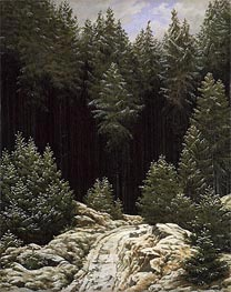Early Snow, c.1828 by Caspar David Friedrich | Painting Reproduction