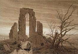 Winter (Eldena Abbey near Greitswald), undated by Caspar David Friedrich | Painting Reproduction