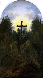 Cross in the Mountains, c.1815/20 by Caspar David Friedrich | Painting Reproduction
