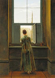 Woman at a Window, 1822 by Caspar David Friedrich | Painting Reproduction
