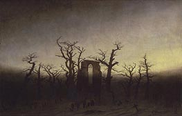 Abbey among Oak Trees, c.1809/10 by Caspar David Friedrich | Painting Reproduction