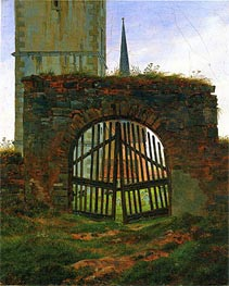 The Cemetery (Churchyard Gate) | Caspar David Friedrich | Painting Reproduction