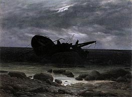 Wreck in the Moonlight | Caspar David Friedrich | Painting Reproduction