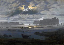 Northern Sea by Moonlight | Caspar David Friedrich | Painting Reproduction