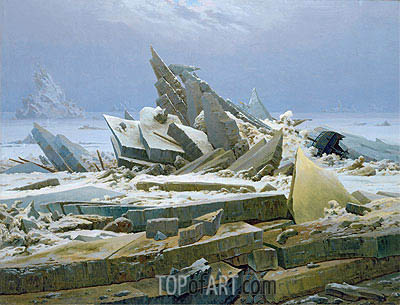 The Polar Sea (The Sea of Ice), 1824 | Caspar David Friedrich | Painting Reproduction