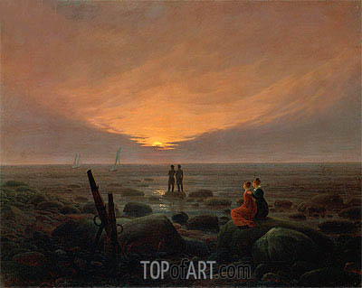 Moonrise over the Sea, 1821 | Caspar David Friedrich | Gemälde Reproduktion