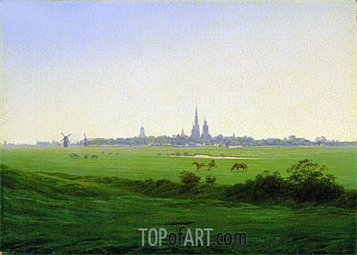 Meadows near Greifswald, c.1822 | Caspar David Friedrich | Painting Reproduction
