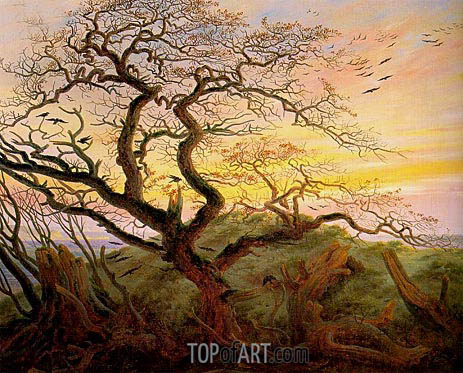 The Tree of Crows, c.1822 | Caspar David Friedrich | Gemälde Reproduktion