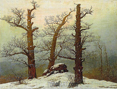 Dolmen in the Snow, 1807 | Caspar David Friedrich | Painting Reproduction