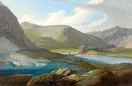 The Gotthardpasshohe with the Three Lakes and the Refuge | Caspar Wolf | Painting Reproduction