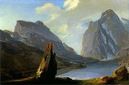 Alpine Landscape | Caspar Wolf | Painting Reproduction