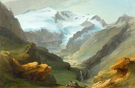 Look at the Lauenen Valley with Geltengletscher and Geltenhorn, Undated by Caspar Wolf | Painting Reproduction