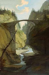 Bridge over the Muota near Schwyz | Caspar Wolf | Gemälde Reproduktion