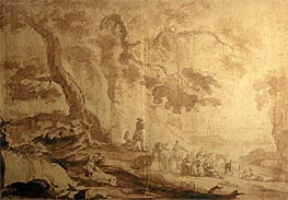 Landscape with Traveling Party, 1768 by Caspar Wolf | Painting Reproduction