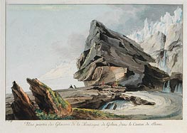 Part of Glacier Mountain Gelten in the Canton of Bern, undated by Caspar Wolf | Painting Reproduction