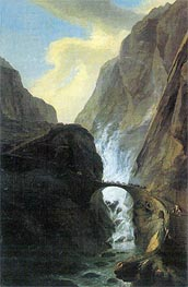 Devil's Bridge in the Schoellenen, undated by Caspar Wolf | Painting Reproduction