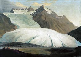 The Rhone Glacier Seen from the Valley at Gletsch, 1778 by Caspar Wolf | Painting Reproduction