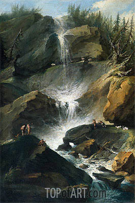 The Upper Staubbachfall in the Lauterbrunnen Valley, c.1774/77  | Caspar Wolf | Painting Reproduction