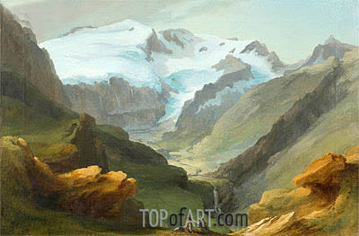 Look at the Lauenen Valley with Geltengletscher and Geltenhorn, Undated | Caspar Wolf | Painting Reproduction