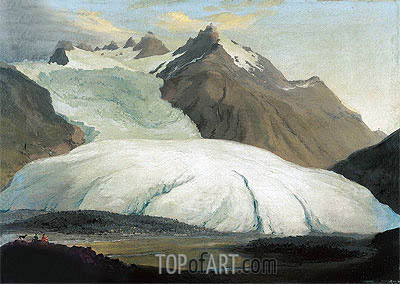 The Rhone Glacier Seen from the Valley at Gletsch, 1778 | Caspar Wolf | Painting Reproduction