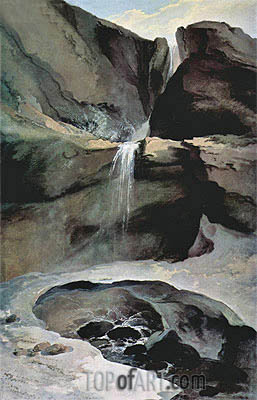 The Geltenbachfall im Winter, 1778 | Caspar Wolf | Painting Reproduction