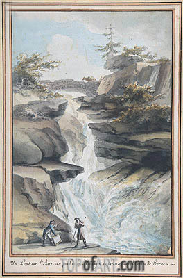 A Bridge on the Aar, at the Foot of the Grimsel, in the Canton of Berne, c.1775 | Caspar Wolf | Gemälde Reproduktion