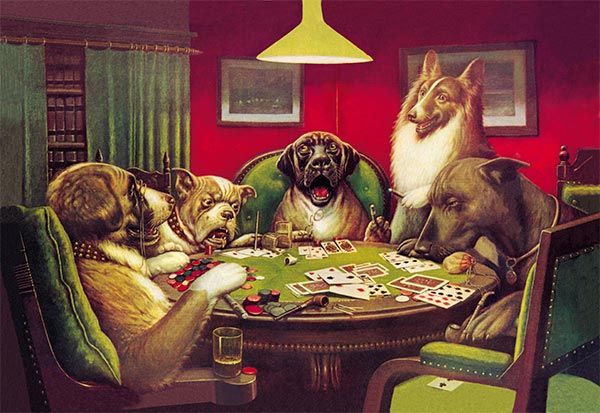 A Waterloo (Dogs Playing Poker), 1906 | Cassius Marcellus Coolidge | Painting Reproduction