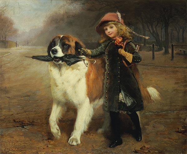 Off to School, 1883 | Charles Burton Barber | Painting Reproduction