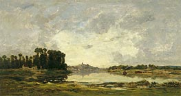 Conflans, 1874 by Charles-Francois Daubigny | Painting Reproduction