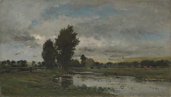 French River Scene, 1871 | Charles-Francois Daubigny | Painting Reproduction