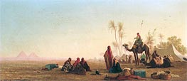 Halt at an Oasis, Undated by Charles-Theodore Frere | Painting Reproduction