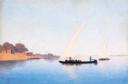 Boats on the Nile, Undated von Charles-Theodore Frere | Gemälde-Reproduktion