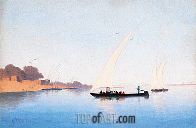 Boats on the Nile, Undated | Charles-Theodore Frere | Gemälde Reproduktion