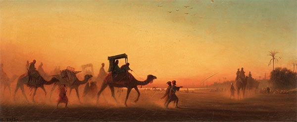 Caravan at Sunset, Undated | Charles-Theodore Frere | Gemälde Reproduktion