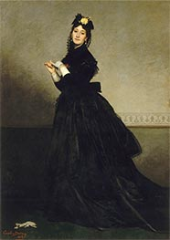 The Lady with the Glove, 1869 by Carolus-Duran | Painting Reproduction