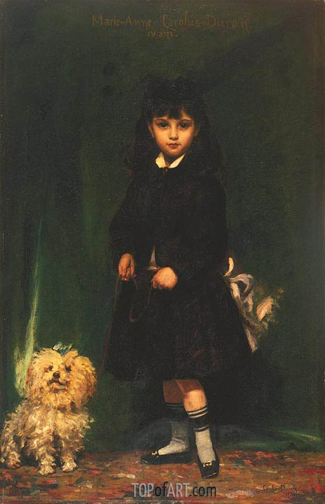 Marie-Anne Carolus-Duran (The Artist's Daughter), 1874 | Carolus-Duran | Painting Reproduction