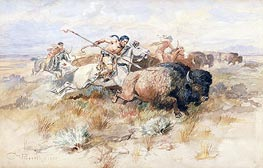 A Kiowa's Odyssey: The Buffalo Hunt | Charles Marion Russell | Painting Reproduction