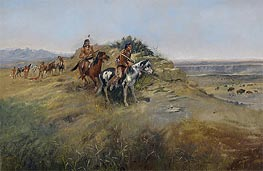 Buffalo Hunt, 1891 by Charles Marion Russell | Painting Reproduction